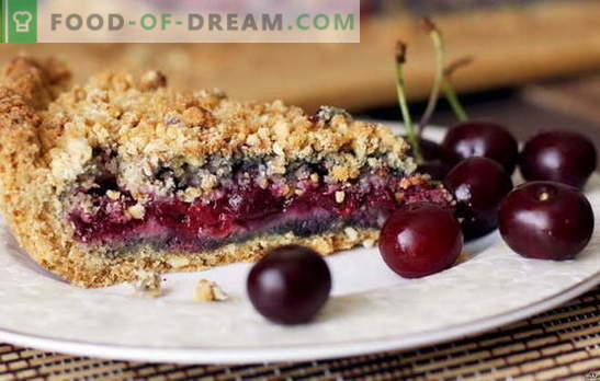 Torta di sabbia con ciliegia - dolce piacere acido. Ricette verificate per torta di pasta frolla con ciliegie