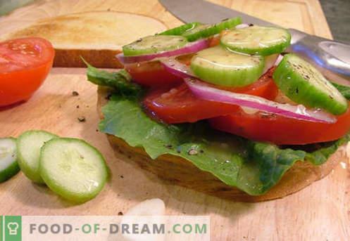 Томатските сендвичи се најдобри рецепти. Како да брзо и вкусно готви сендвичи со домати.
