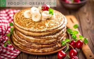 Real classico frittelle: ricette passo dopo passo. Ricette comprovate di classici pancake con latte, lievito e kefir