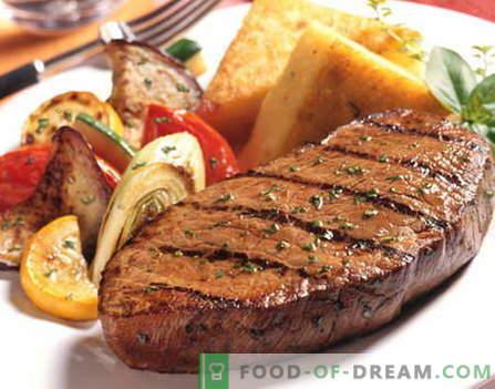Bistecca di manzo - le migliori ricette. Come cucinare correttamente e gustosa bistecca di manzo.