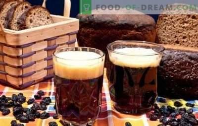 Kvass de pão preto - escuro, saudável, refrescante! Receita de kvass em pão preto sem fermento
