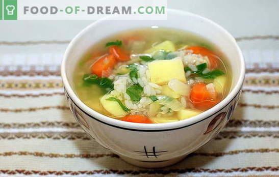Zuppa di riso al pollo: regole di base per cucinare. Versioni uniche e classiche di zuppa di riso con pollo
