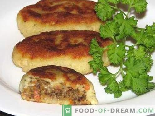Patate Zrazy - le migliori ricette. Come cucinare correttamente e gustoso patate zrazy.