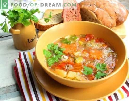 Come preparare la zuppa in 15 minuti: opzioni del primo corso veloce