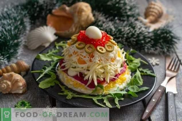 Insalata di Capodanno con pesce rosso e caviale