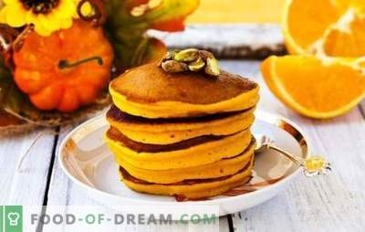 Pumpkin pancakes - suns from the pan! Recipes bright and fragrant pumpkin pancakes with milk, kefir, water