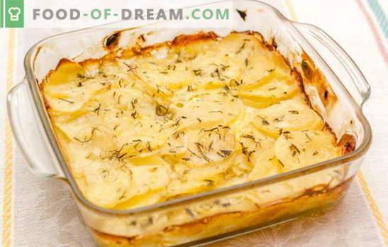 Le patate in panna acida al forno sono il