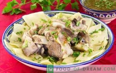 Beshbarmak di maiale - ricette per gustosi piatti di popoli di lingua turca. Come cucinare il beshbarmak dal maiale?