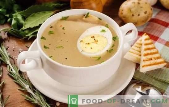 Il brodo di uova è un primo piatto facile ed è semplice da preparare. Varianti di brodo con uovo di selvaggina, pesce, pollo e manzo