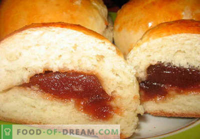 Buns with jam - the best recipes. How to properly and tasty cook buns with jam