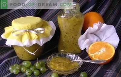 La marmellata di uva spina con le arance è una prelibatezza fragrante e sana. Ricette originali e semplici di marmellata di uva spina con arance