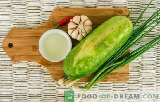 Zucchine con aglio: gustoso, semplice, ipocalorico. Come cucinare i piatti giornalieri e festivi di zucchine con aglio