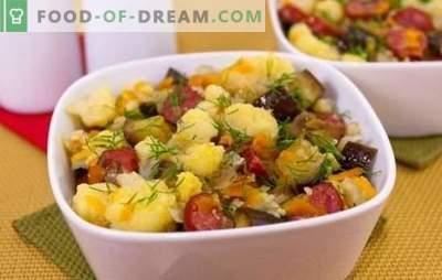 Cavolfiore stufato - semplice, gustoso. Ricette per cavolfiore in umido con verdure, pollo, carne macinata, funghi e altro
