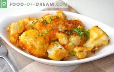 Come friggere il cavolfiore (fresco, congelato) è delizioso. Ricette per cavolfiore fritto in impanatura, pastella, in uovo, con verdure