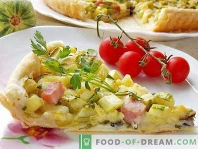 Tortino mediterraneo con zucchine, prosciutto e formaggio