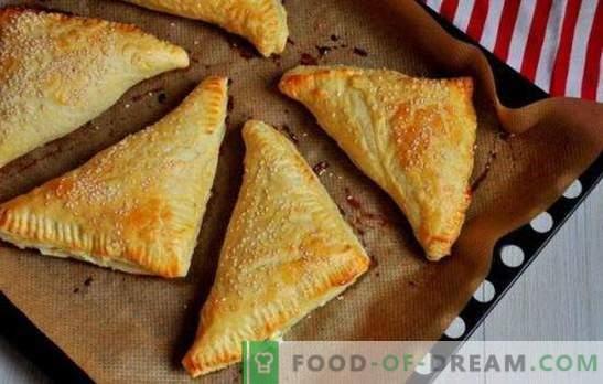 Sfoglia con ricotta: dolce, salata, al forno e in padella. Ricette per sfoglia di pasta sfoglia diversa con ricotta