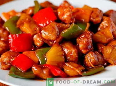 Pork in sweet and sour sauce - the best recipes. How to properly and tasty cook pork in sweet and sour sauce.