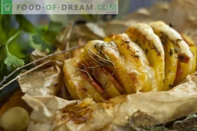 Patata al forno-armonica con prosciutto
