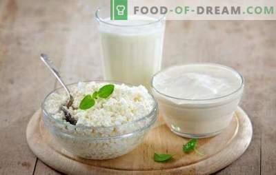 Un produit utile est le fromage cottage fabriqué à partir de lait et de kéfir à la maison. Tous les secrets de la cuisson du fromage cottage au lait et au kéfir