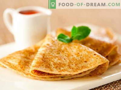 Pancakes acidi - ricette collaudate. Come cucinare in modo corretto e gustoso pancakes acida.