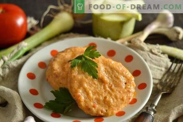 Delicati pezzi di pollo con zucchine in salsa agrodolce