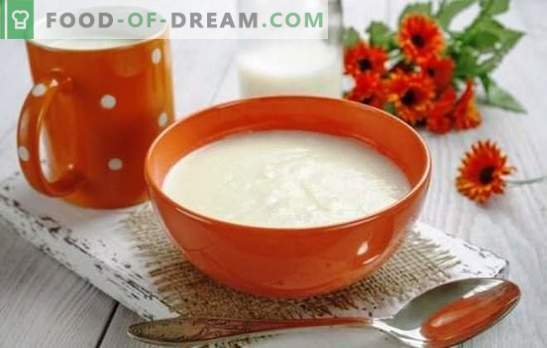 Bouillie de semoule sur du lait sans grumeaux - parfait! Les meilleures recettes et secrets de la cuisson de la semoule au lait sans morceaux