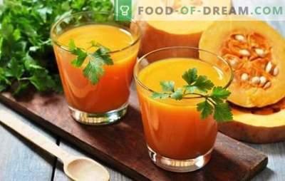 Jus de citrouille et oranges pour l'hiver - une charge de vitamines! Recettes de jus de citrouille aux oranges pour une ambiance ensoleillée