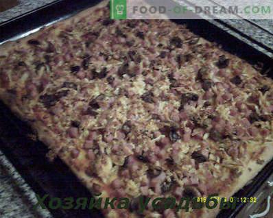 Pizza maison, recette de cuisine avec photos étape par étape