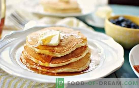 Tradizioni della cucina slava: pancake con latte (passo dopo passo). Come cucinare i pancakes con il latte: ricette passo-passo con e senza lievito