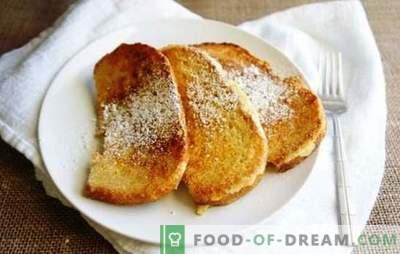 Brood in melk in een pan - croutons, zoet, pittig en tot de bouillon. Bak rossig brood croutons in melk in een pan