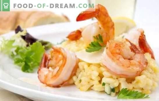 Risotto ai frutti di mare - riso italiano. Le migliori ricette, sottigliezze e suggerimenti per cucinare risotto con frutti di mare