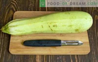Come pulire le zucchine - giovani o vecchi, per piatti diversi. Come pulire le zucchine correttamente, professionalmente?