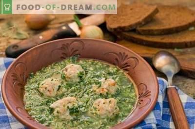Zuppa di spinaci con polpette