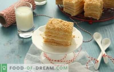 La torta di Napoleone fatta con la pasta sfoglia pronta è un dessert senza problemi. Ricetta torta