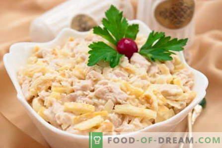 Salad Tenerezza - le migliori ricette. Come cucinare correttamente e gustoso per insalate.