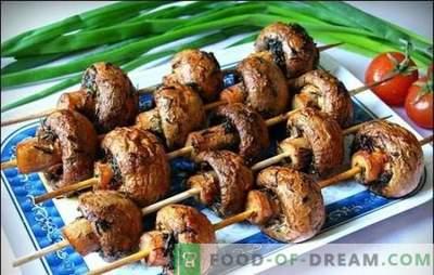 Marinata per champignons - le migliori ricette per i funghi fragranti. Marinata per funghi alla griglia sulla base di panna acida, salsa di soia, vino
