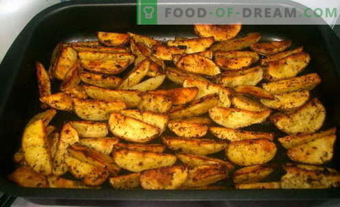 Patate stile country - le migliori ricette. Come cucinare correttamente e gustoso patate in un paese.