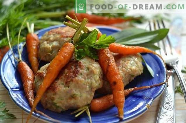 Deliziose polpettine di carne con fiocchi d'avena e verdure