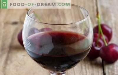 Vino ciliegino in casa: i punti principali della cucina del vino. Ricette di vini fatti in casa da ciliegia