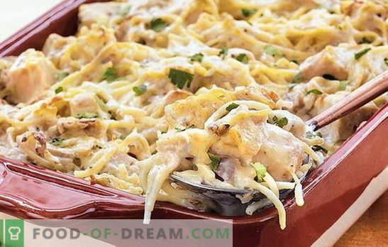 Spaghetti di pollo - una cena veloce e poco costosa. Come ...