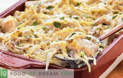 Spaghetti di pollo - una cena veloce e poco costosa. Come cucinare gli spaghetti con il pollo per la gioia di tutta la famiglia: le migliori ricette