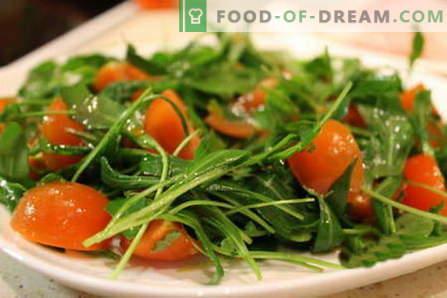 Insalata di rucola - le migliori ricette. Come cucinare correttamente e gustoso un'insalata con rucola.