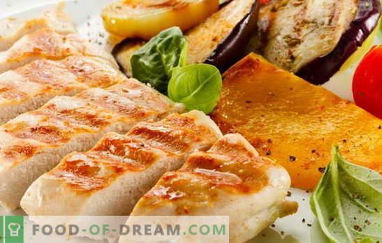Il filetto di pollo alla griglia è elementare! Ricette per il delizioso filetto di pollo alla griglia in forno, microonde, in una padella