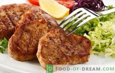 Свинска пържола в тиган - научете се как да изпържите месото вкусно! Най-добрите рецепти за свинска пържола в тиган в оригиналните маринати