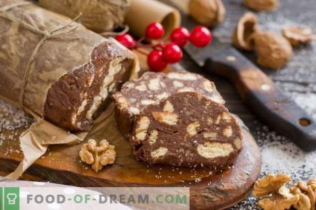 Salsiccia al cioccolato - dessert senza cottura