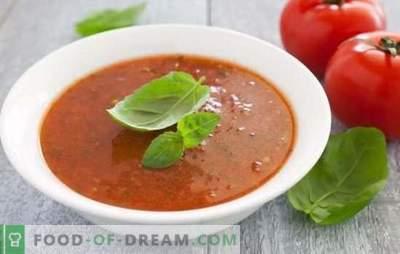 La sopa de puré de tomate es un plato saludable para los veranos calurosos e inviernos fríos. Las mejores opciones para sopa de puré de tomate caliente y fría