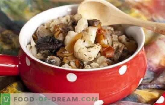 Cavolfiore con funghi - un bouquet di gusto! Ricette per diversi piatti di cavolfiore con funghi per la padella e il forno