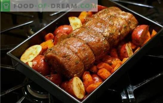 Maiale con verdure al forno - sempre delizioso! Come cucinare il maiale con le verdure nel forno - ricette semplici e festose