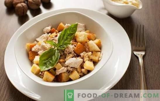 Salat mit Schinken und Cracker - im All-Inclusive-Modus kochen. Bewährte Salatrezepte mit Schinken und Crackern
