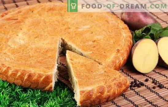 Aardappelpastei op kefir is een Ossetisch equivalent! Vlees, vis of groenten - in de recepten van aardappeltaarten op kefir